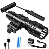 Weitars Tactical Flashlight 1200 Lumens LED For AR15 Rifle Weapon Light USB Rechargeable Picatinny...