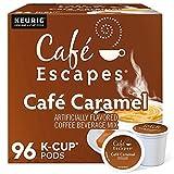 Cafe Escapes, Cafe Caramel Coffee Beverage, Single-Serve Keurig K-Cup Pods, 96 Count (4 Boxes of 24 Pods)
