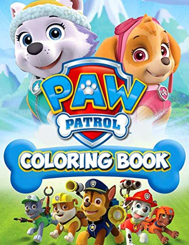 Paw Patrol Coloring Book: 50+ Illustration Books Great Gift for Boys Kids Ages 2-4