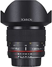 Rokinon AE14M-C 14mm f/2.8-22 Ultra Wide Angle Lens with Built-In AE Chip for Canon EF Digital SLR,Black