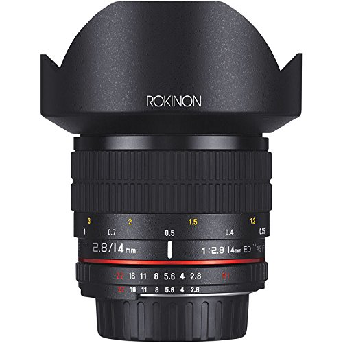 Rokinon AE14M-C 14mm f/2.8-22 Ultra Wide Angle Lens with Built-In AE Chip for Canon EF Digital...