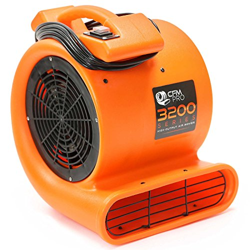 CFM Pro Air Mover Carpet Floor Dryer 2 Speed 1/2 HP Blower Fan - Orange Industrial Water Flood Damage Restoration