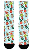 Bioworld Merchandising / Independent Sales The Grinch All-Over-Print Sublimated Adult Socks Standard
