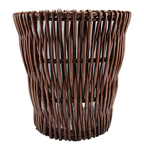 VORCOOL Cesta de mimbre rústica de mimbre tejida para plantas, cesta de...