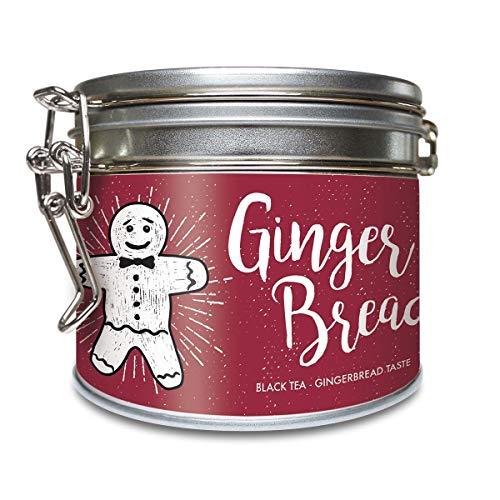 'Gingerbread' Schwarzer Tee Lose Bio Dose mit Lebkuchen Geschmack - Schwarztee mit Datteln, Gewürze u. weiteren Zutaten – ca. 40 Tassen (100 Gramm) von alveus Premium Teas