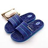 N&W Shower Open Back Slippers Massage Slippers Indoor Bathroom Non-Slip Sandals and Slippers Foot Reflexology Slippers-B Dark Blue_43 Open Toe Sandals