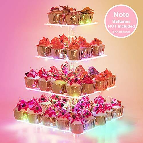 Cupcake Stand – Premium Cupcake Holder – Acrylic Cupcake Tower Display – Cady Bar Party Décor...