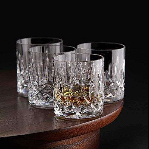 Double Old Fashioned Glasses, Le'raze Posh Crystal Collection, Perfect for serving scotch, whiskey or mixed drinks (Set of 6 - 11Oz DOF Glasses)