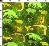 Tropisch, Palmenblätter, Amazonas, Panther, Wilde Tiere