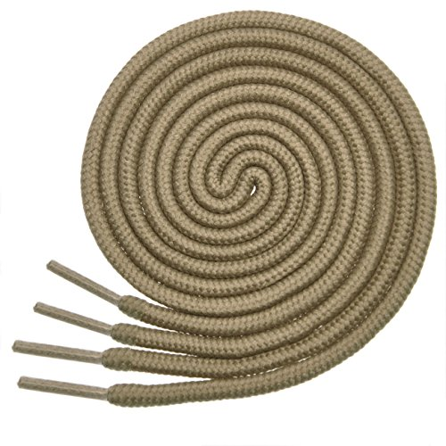 BIRCH's Round Shoelaces 27 Colors 3/16' Thick Shoe Laces 4 Different Lengths ?, Taupe Tan, 29.5'(75cm) S