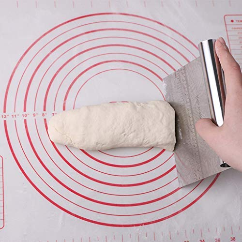 Sunlera Acciaio Inossidabile Pasta della Pizza Raschiatore taglierina Cottura Pasticceria spatole della Decorazione della Torta del Fondente Accessori Utensili da Cucina (argento)