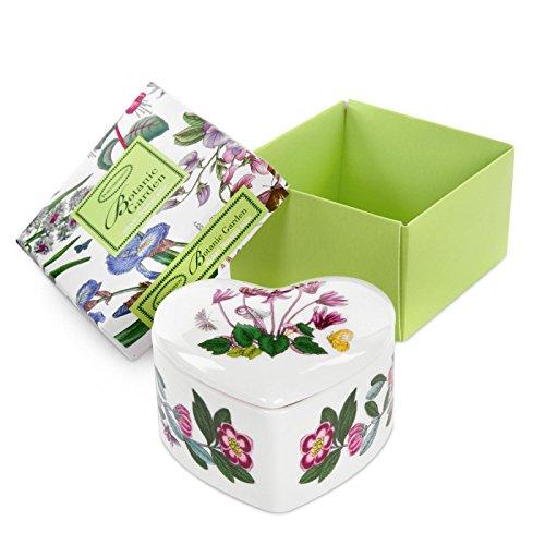 Portmeirion Home & Gifts Boîte à bijoux en porcelaine Motif cœur Multicolore 9,5 x 9 x 4,5 cm