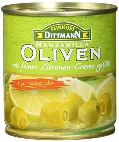 Feinkost Dittmann Oliven gefüllt mit Lemoncreme, 8er Pack (8 x 85 g)