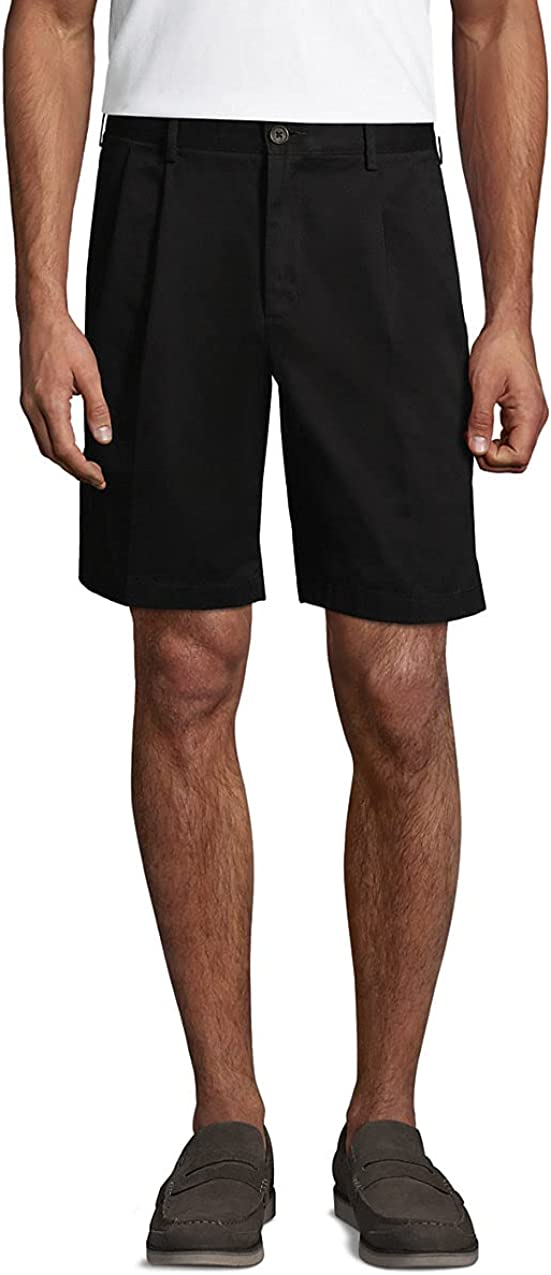 San Antonio Mall Lands' Easy-to-use End Men's Traditional Fit Pleated No Iron Chino Shorts 9