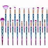 Pinceaux Maquillage, 20 pièces Cosmétique Pinceaux Kit pour Pinceau Fond de Teint Ombre à Paupières Eyeliner Yeux Visage Poudre Pinceaux de maquillage