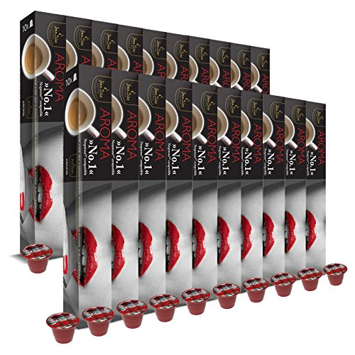 SanSiro 20x Kaffee Aroma Baguette No. 1: Nespresso kompatible – 200 Kaffeekapseln, 1er Pack (1 x 1 kg)