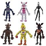 Yangzou 6 Piezas Five Nights At Freddy'S Figure Set Game FNAF Foxy Bonnie Freddy Fazbear Sister...