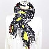 XUZHUO Bufanda de diseñador de Marca de Piel de Serpiente con Personalidad, Bufanda de Cachemir...