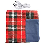 LOadSEcr Red Electric Heated Blanket, Heated Blanket, Electric Blanket, 34.65' x 25.6' Home USB Rechargeable Electric Heating Blanket Kneepad with Pocket for Car or Home Red