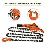 ECCPP Manual Lever Chain Hoist 3/4 Ton Capacity, 10FT Lift