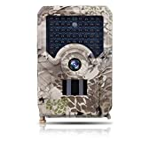 Mounchain Trail Camera, Waterproof 12MP 1080P Game Hunting Scouting Cam with 3 Infrared Sensors for Wildlife Monitoring with Wide Angle Lens and Night Vision PR200