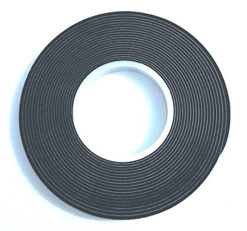 10,0m Komprimierband 15/3 Bandbreite 15mm, Acryl 300, expandiert von 3 auf 15mm, anthrazit, vorkomprimiertes selbstklebendes Dichtungsband Kompriband Fugendichtband Fensterdichtband Quellband