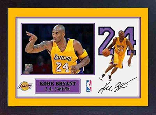 Kobe Bryant La Lakers SIGNED Autograph Foto Print Bild NBA Basketball gerahmt