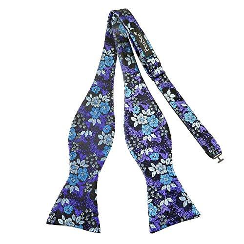 PenSee Nœud papillon pour homme à nœud en soie motif floral multicolore