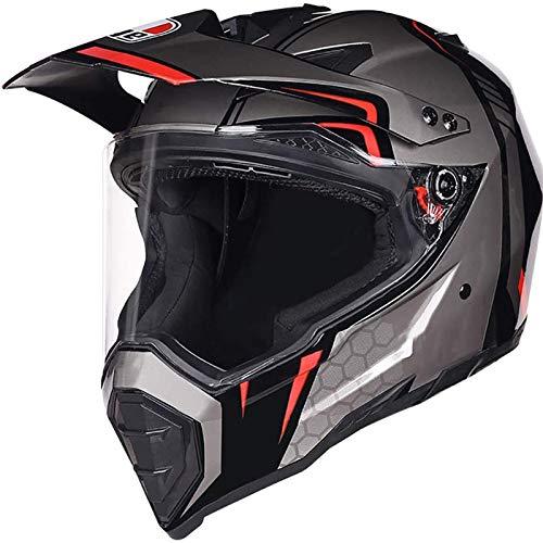 CZLWZZD Vollgesichts-Motorrad-Motorroller mit Sonnenblende Scooter Motorrad-Straßenmotorrad-Cruiser-Helm MTB-Helm für Erwachsene für Downhill-Geländefahrrad Quad-Schutzausrüstung