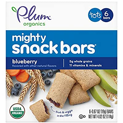 Plum Organics Mighty 4 Essential Nutrition Bars Blueberry with Carrot