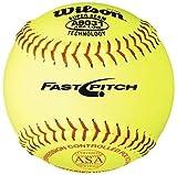 WILSON 12' A9031B ASA Yellow Raised Seam Softballs from (One Dozen)