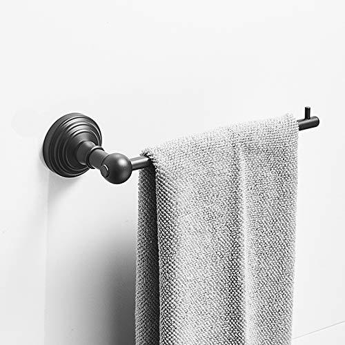SongL Toalla, Soporte de Toalla de Mano Sus304 Acero Inoxidable, Conjunto de Hardware Barra de Toallas para baño, Cocina, gabinete en Hotel o en casa, Mate Negro y Pared