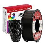 PLA Negro Filamento de Impresión 3D 1.75mm Materiales Precisión +/- 0.02 mm 1kg/un carrete