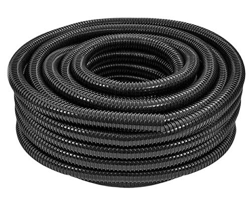 Heritage Black Corrugated Flexible Pond Hose Flexi Pipe Fish Garden Filter...