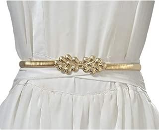 Fashion wild chain thin belt New ladies metal spring waist chain (Color : Gold, Size : 72cm)