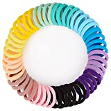 JessLab Hair Ties, 60 Pcs Seamless No-Damage Thick Elastic Scrunchies Hair Ties Gentle Ponytail Holders Stretchy Hair Bands Elastic Cords Hair Accessory for Girls Women Ladies, Color Assorted