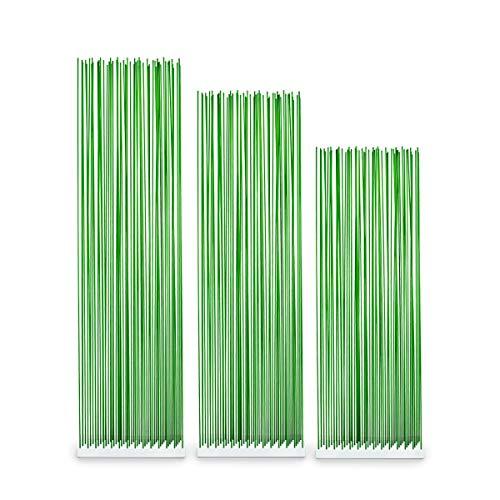 Skydesign Biombo verde – 145 cm de alto – Base blanca de polietileno – Varillas de fibra de vidrio verde – Protección visual – Separador de habitaciones – Biombo para exterior – Biombo flexible blanco