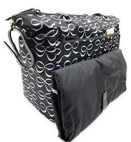 Kate Spade New York Jae Nylon Baby Diaper Bag (Elegant Bow Multi)