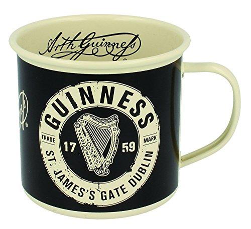 Guinness Emaillebecher mit Trademark Logo