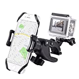 YELIN Bike Phone Mount Motorcycle Phone Holder Bike Camera Mount 2 in 1 Bicycle Holder Handlebar Clamp Compatible with Action Cam iPhone X 8 7 7 Plus 7s 6s Samsung Phone