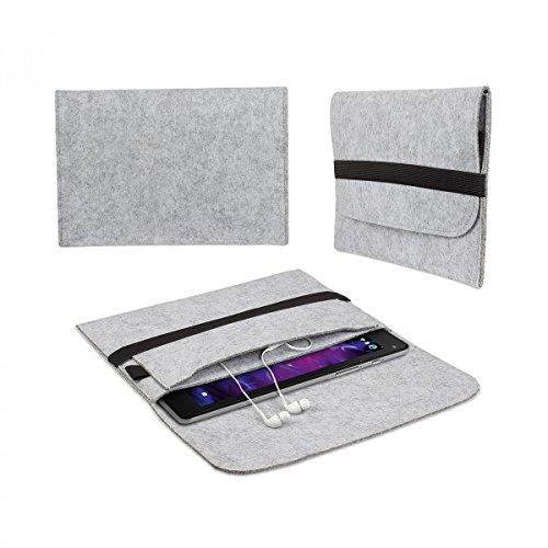 eFabrik Filz Tasche für Medion Lifetab X10311 | X10302 | X10301 | S10352 | S10351 Hülle 10.1 Zoll Sleeve Schutz Cover Hülle Schutztasche Schutzhülle grau