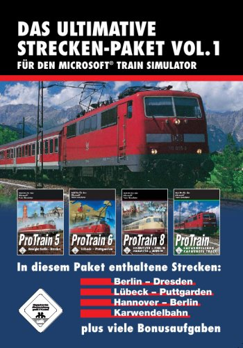 Train Simulator - Das ultimative Strecken-Packet Vol. 1 (ProTrain 5 Berlin - Dresden / ProTrain 6 Lübeck - Puttgarden / ProTrain 8 Hannover - Berlin / ProTrain Karwendelbahn)