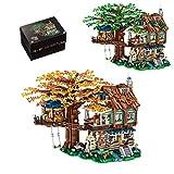 Amitas Baumhaus Klemmbausteine Bausatz mit Blattelemente in Zwei Farben, Baumhaus Konstruktionsspielzeug Nicht kompatibel mit Lego - 4761 Teile