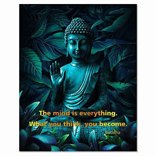 The Mind is Everything Art Print Buddha Quote Yoga Wall Art Buddha Gift Idea Motivational Wall Decor UNFRAMED 8x10inch