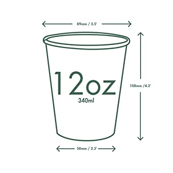 Vegware lv-8/caliente taza color blanco Pack de 1000 8/oz
