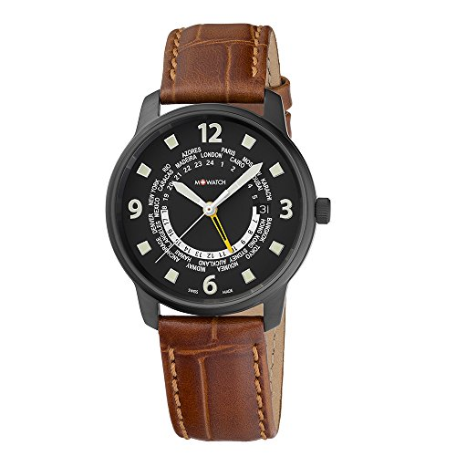 M WATCH Swiss Made Aero Orologio da uomo, Cifre e quadrante nero con...