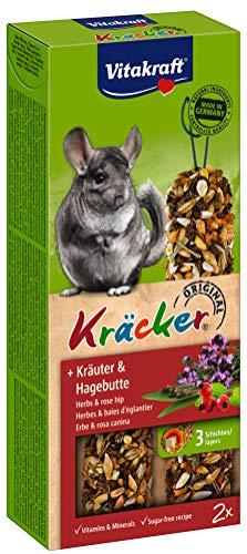 Vitakraft Kräcker, Knabberstangen für Chinchillas (1 x 2 Stück), 112 g
