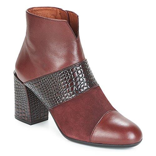 HISPANITAS SAFRON Botines/Low Boots Mujeres Burdeo Botines