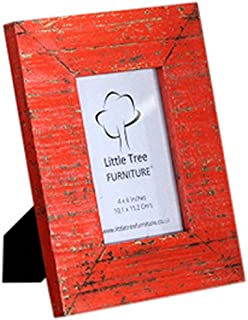 Little Tree Furniture Reclaimed Picture Frame, Wood, Sai Orange, 25 x 20 x 2 cm