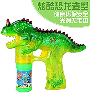 ACHICOO 子供漫画の恐竜の形の電気泡機械ライト音楽おもちゃ 8638 8638